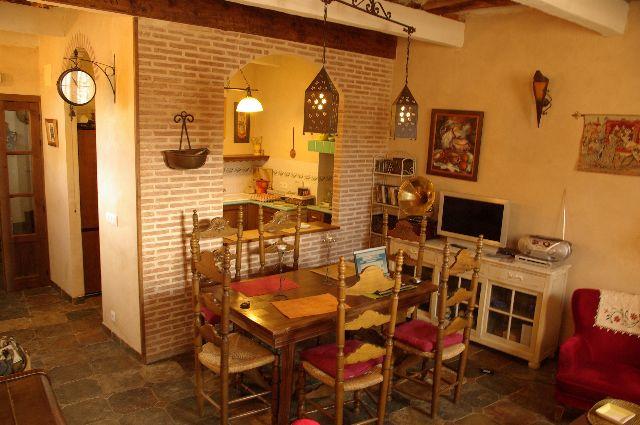 salon desde arriba 1 - Casa rural con jacuzzi